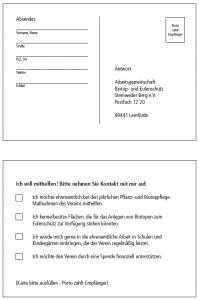 Postkarte - Ich helfe!